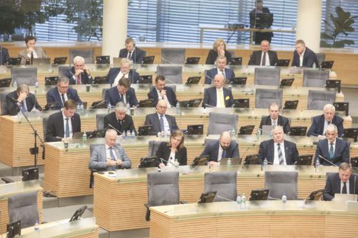 Nebelieka Tvarkos ir teisingumo frakcijos Seime