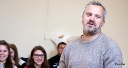 Mokinių susitikimai su aktoriumi Giedriumi Savicku