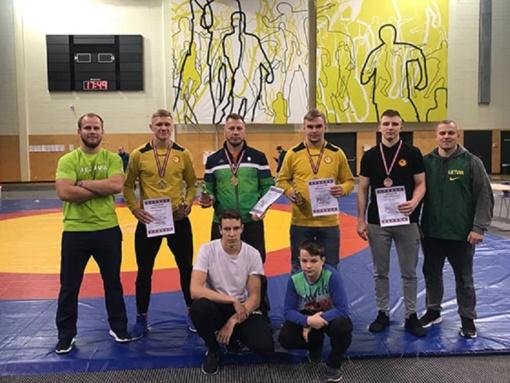 Radviliškiečiai imtynininkai – Tarptautinio laisvųjų imtynių turnyro Latvijoje prizininkai