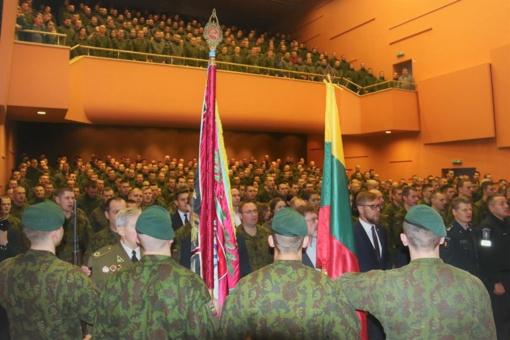 Tauragėje šventiškai paminėtas Lietuvos kariuomenės atkūrimo šimtmetis