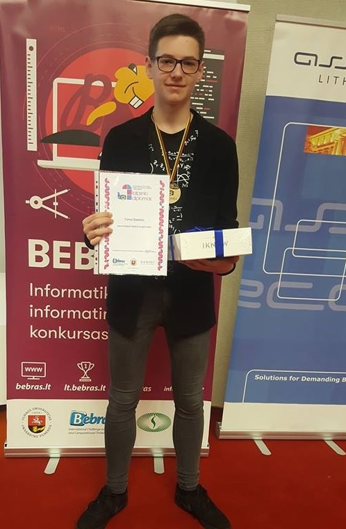 Uteniškis Tomas Babelis tapo prestižinio konkurso nugalėtoju