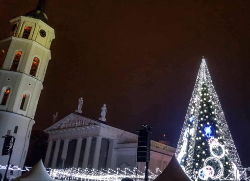 Vilniaus Katedros aikštėje - iškilmingas eglės įžiebimas ir šventinis koncertas