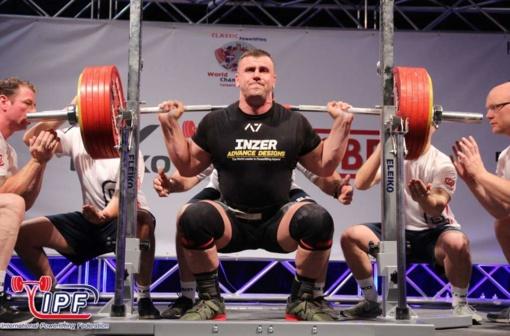 A. Paulauskas tapo Europos jėgos trikovės čempionu