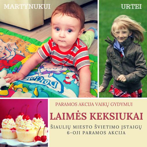 """Paramos akcija """"LAIMĖS KEKSIUKAI"""" vaikams suteikia viltį sveikti"""