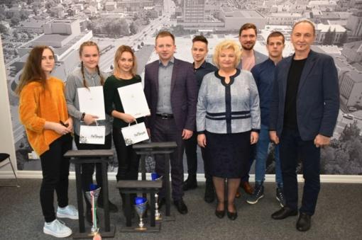Europos čempionato sportininkus pasveikino Marijampolės savivaldybės vadovybė