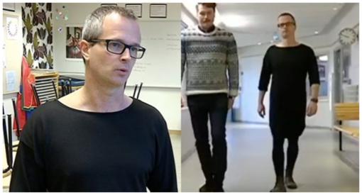 Mokyklos direktorius verčia mokinius dėvėti sukneles