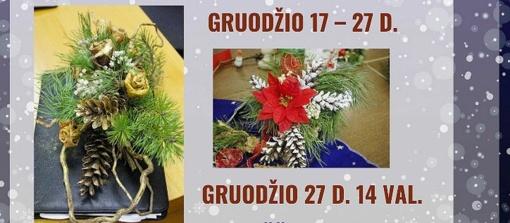 Vėl džiugins kalėdinių-naujametinių puokščių paroda Trakų viešojoje bibliotekoje