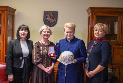 Prezidentei - išskirtinis Ukrainos žmonių apdovanojimas