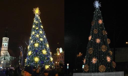 Kalėdinė eglutė: rajonas kopijuoja miestą, ar miestas – rajoną?