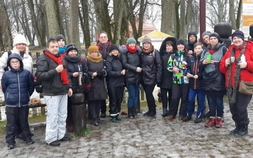 Ragainės progimnazijos  bendruomenės Žiemos žygis