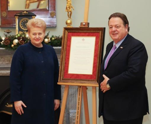 D. Grybauskaitė: Maltos ordino padėka - svarus įvertinimas visiems Lietuvos žmonėms