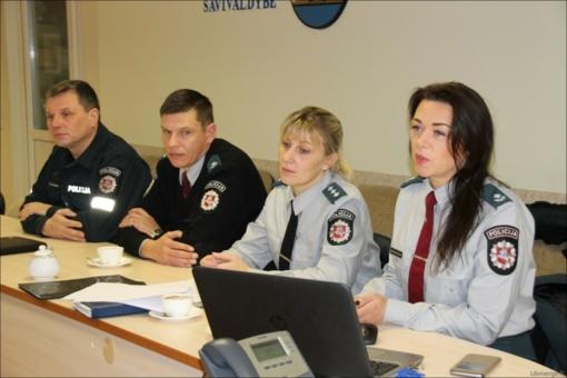 Aptarė nusikalstamumo situaciją Ukmergės mieste ir rajone