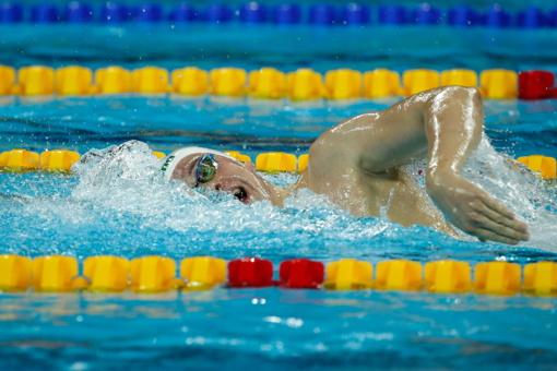 Plaukikas D. Rapšys Kinijoje įspūdingai pagerino Lietuvos rekordą