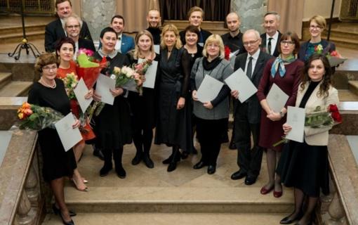 Įteiktos 2018 metų Kultūros ministerijos premijos