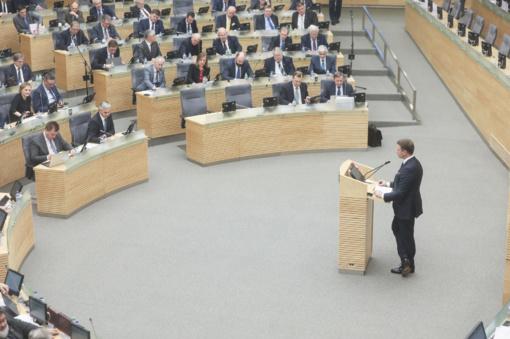 Seime patvirtintas kitų metų biudžetas