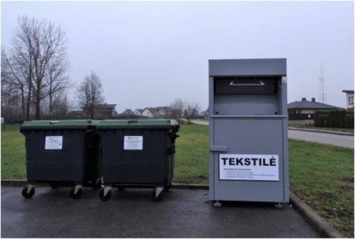 Specialūs konteineriai tekstilės atliekoms jau Skuodo rajone