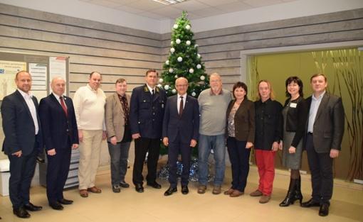 Ukrainiečiai dailininkai padėkojo Savivaldybei už nuoširdų priėmimą