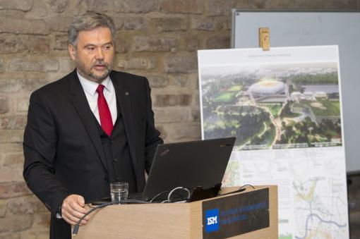 Siūlomas nacionalinio stadiono projektas, kuriame veiktų neformalaus ugdymo veiklos centras ir darželis