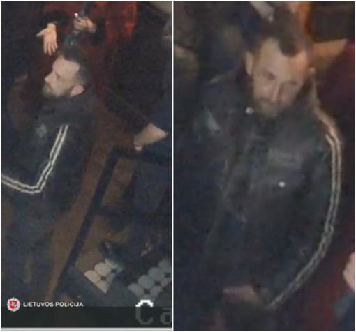 Policijos pareigūnai prašo visuomenės pagalbos – atpažinti vaizdo kamerų užfiksuotą vyrą
