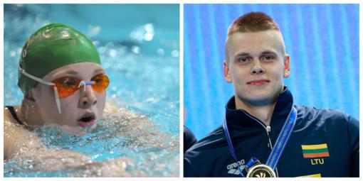 Plaukikė R. Meilutytė vos pateko į 100 m plaukimo krūtine pusfinalį, D. Rapšys pagerino čempionatų rekordą