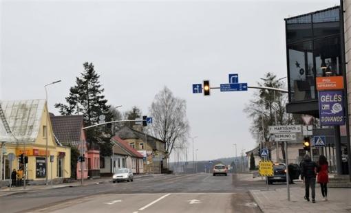 Atidarytas eismas rekonstruotame F. Martišiaus ir Vytauto gatvių ruože