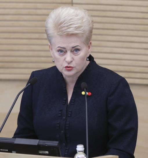 D. Grybauskaitė: pozicijos dėl 2021-2027 m. ES biudžeto realiai eina į orą