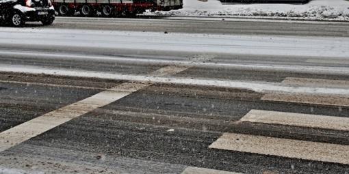 Kelių būklė ir eismo sąlygos sekmadienio rytą