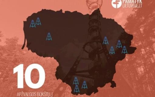 Žiemos savaitgaliams skirtas žaidimas-kelionė po 10 apžvalgos bokštų saugomose teritorijose