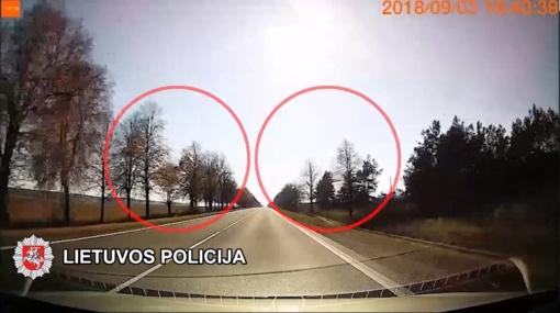Pažeidėjas, siekdamas išvengti administracinės atsakomybės, užsitraukė baudžiamąją (vaizdo įrašas)