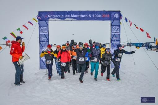 Antarktidos maratono nugalėtojai šaltis nebuvo sunkiausia varžybų dalis