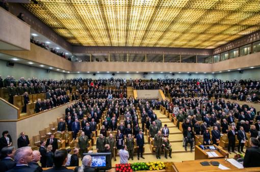 Seime iškilmingai paminėtos Lietuvos laisvės gynimo metinės