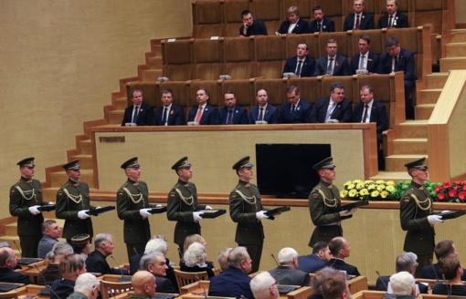 Prieš 28 metus vykę įvykiai - Seimo dėmesio centre