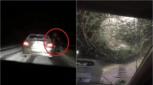 Išpuolis kelyje: BMW persekiojo, taranavo, vėliau – užpuolė