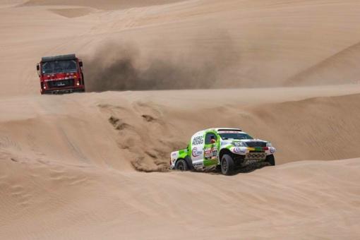"""""""Agrorodeo"""" ekipažas šeštajame Dakaro ralio etape finišavo 12-ojoje vietoje"""
