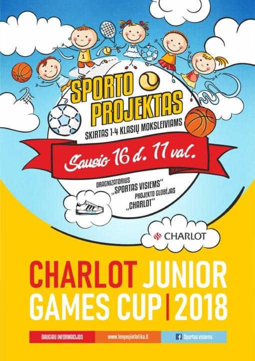 """Projektas moksleiviams """"CHARLOT JUNIOR GAMES CUP - 2018"""" (Jaunasis olimpietis)"""