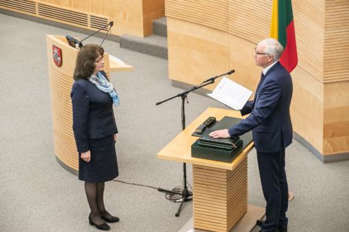 Seime prisiekė švietimo, mokslo ir sporto ministras A. Monkevičius