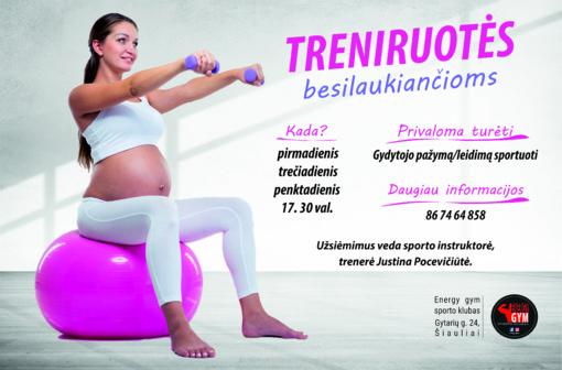 Treniruotės nėščiosioms Šiauliuose