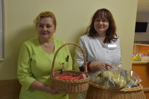Marijampolės ligoninėje sveikstantiems ligoniukams - vokiečių samariečių dovanėlės