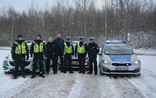 Lietuvos ir Lenkijos pareigūnai – bendras patruliavimas pasiteisina