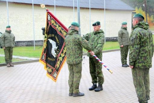 Vyko MPB LDK Kęstučio bataliono vado pasikeitimo ceremonija