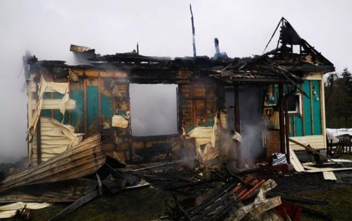 Kraupus įvykis - sudegė namo savininkas ir jo šuo