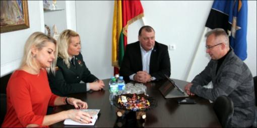 Meras susitiko su pasienio rinktinės pareigūnais