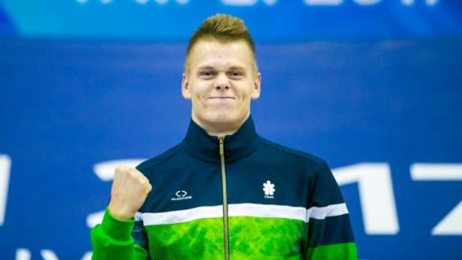 Plaukikas D. Rapšys Belgijoje iškovojo du aukso medalius