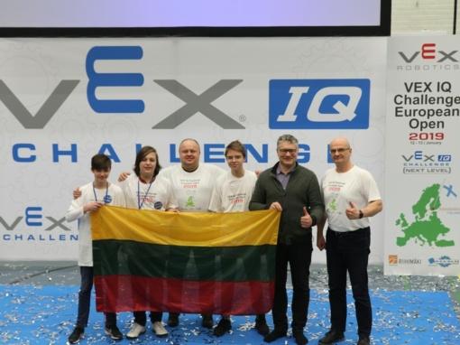 Juventiečiai dalyvavo Europos VEX IQ robotų čempionate