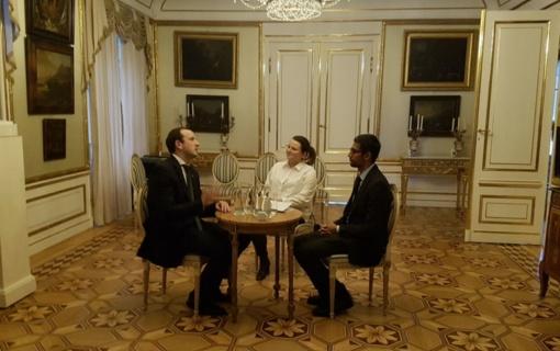 """V. Sinkevičius susitiko su """"Google"""" vadovu: aptarė galimybes plėtoti """"GovTech"""""""