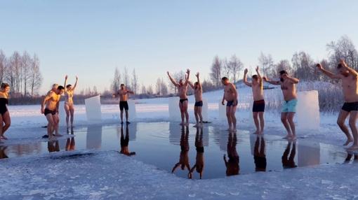 Ledinės eketės iššūkis paskleidė sveikatos ir geros nuotaikos virusą