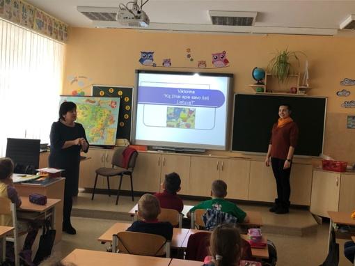 """Šiaulių """"Romuvos"""" progimnazijos pirmokai viktorinoje """"Ką aš žinau apie Lietuvą?"""""""