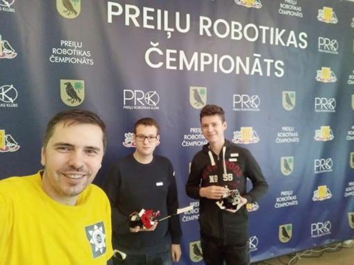 Simono Daukanto gimnazijos mokiniai Preili Robotikos čempionate