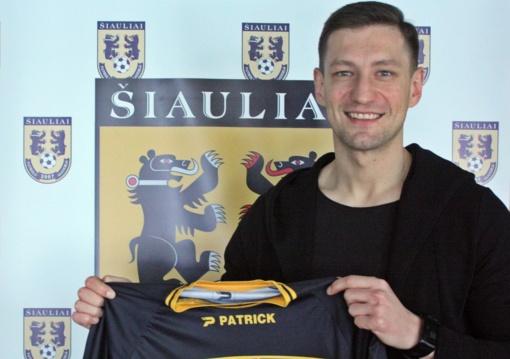 """Ernestas Pilypas prisijungė prie FA """"Šiauliai"""" komandos"""