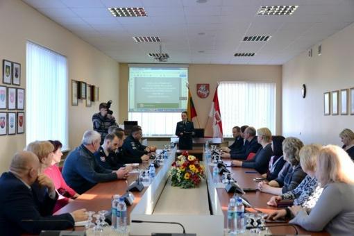 Įvyko Šilalės rajono policijos komisariato ataskaitinis pasitarimas